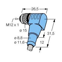 M12x1 Açılı sensör kablosu