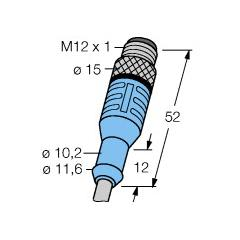 M12x1 Düz sensör kablosu